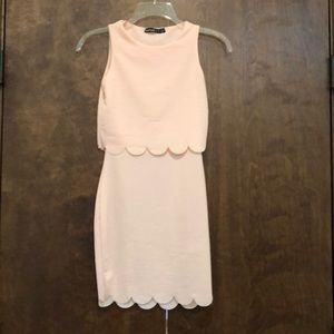 NWOT baby pink bodycon